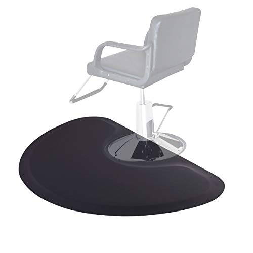 "JAXPETY Black Semi Circle 5'x3' 1/2"" Barber Salon Anti Fatigue Floor Mat Beauty Supplier"