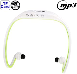 Digital Media Players Sport MP3 Player Headset with TF Card Reader Function, Music Format: MP3 / WMA (White + Red) (Color ...
