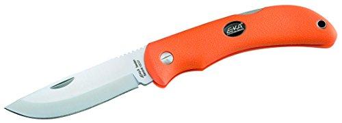 EKA Taschenmesser, Swede 10, Sandvik-Stahl 12C27, orangefarbene Kraton-Griffschalen, schwarzes Nylonetui