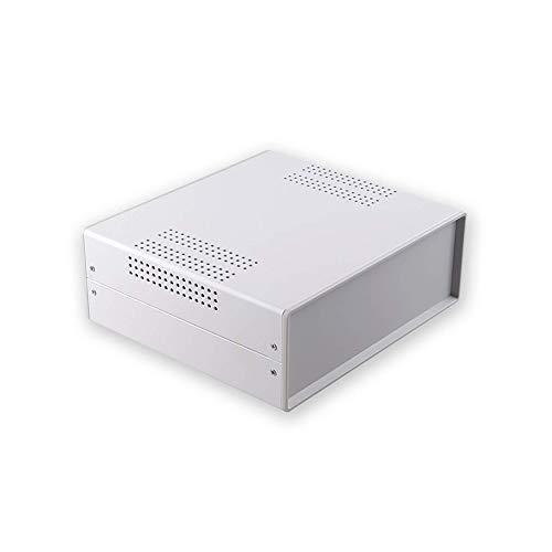 Bahar Enclosure Caja de metal de hierro, 220 x 80 x 195 mm, carcasa de hierro, caja de instrumento, carcasa industrial, BDA 40007-A1 (W195)