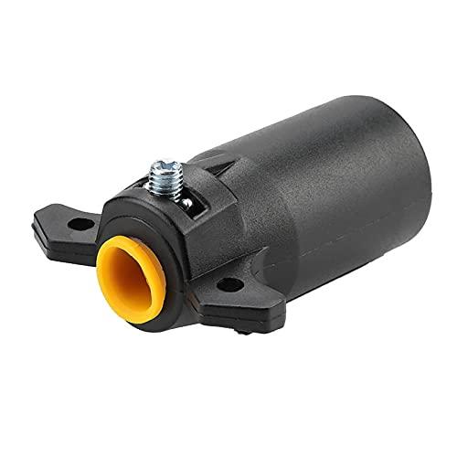 Enchufe redondo para remolque, adaptador de enchufe, 1 pieza, conector de adaptador de enchufe de remolque de barra de remolque redonda de 7 pines, enchufe de 12 V para EE. UU.