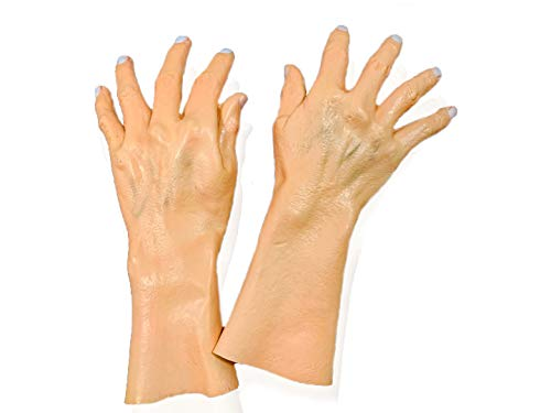 Realistic Latex Hands Gloves Costume Accessory Gloves for Halloween and Cosplay