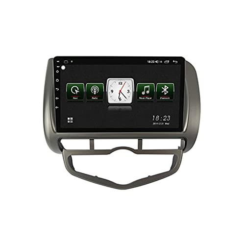 Autoradio Con Schermo Touch,2 DIN 9'' Android 10.0 Autoradio Con 5GHz Wifi/Controllo Volante/Carplay/Telecamera Di Retromarcia/Touch Screen/DSP/Mirror-Link/Per Honda Jazz City 2002-2007,Right,1G+16G