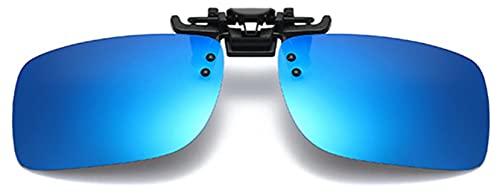 Gafas de sol con clip,Gafas de sol polarizadas clip en gafas de sol para hombre y mujer, ajuste cómodo y seguro sobre gafas de sol Gafas de sol con clip lente polarizada Flip Up protectoras UV400