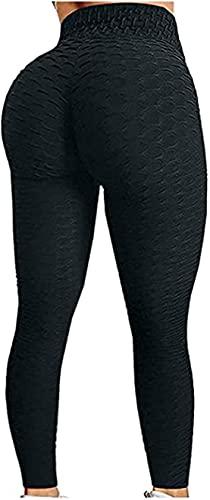 OVIWENEII Pantaloni Sportivi da Donna Leggins Vita Alta Compressione Anticellulite Leggings Yoga Palestra Gym Jogging