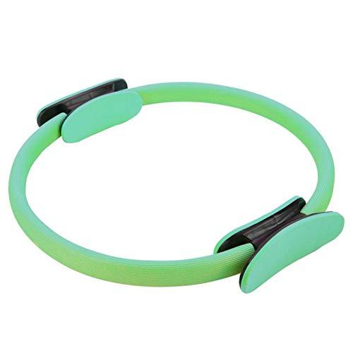 Emoshayoga Círculo de Ejercicios Muscle Power Yoga Ring con Doble Agarre para piernas(Green)