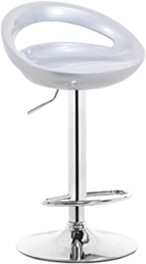 LZL Adjustable Bar Stools, Pub Swivel Barstool Chairs with Back, Pub Kitchen Counter Height Modern Patio Barstool (Color : Gr
