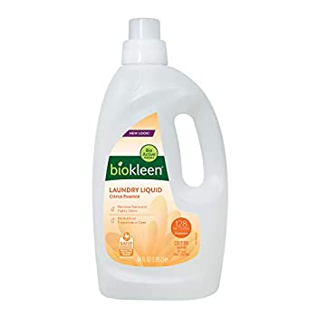 Biokleen Laundry Detergent -128 HE Loads - Citrus Essence 64 Fl Oz Concentrated Eco-Friendly Plant-Based No Artificial Fragrance - Packaging May Vary