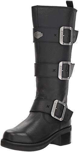 HARLEY-DAVIDSON FOOTWEAR Women's Bostwick Fashion Boot, Black, 5.5 M US