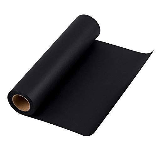 RUSPEPA Schwarzes Kraftpapier - Natürliches Recyclingpapier, Kraftpapierrolle Ideal für Kunsthandwerk, Kunst, Kleine Geschenkverpackungen, Verpackung, Post, Versand und Pakete - 30.5 cm x 30 m