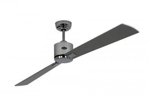 Energiebesparende plafondventilator Eco Neo II 180 cm chroom glanzend vleugel wengé/zilvergrijs