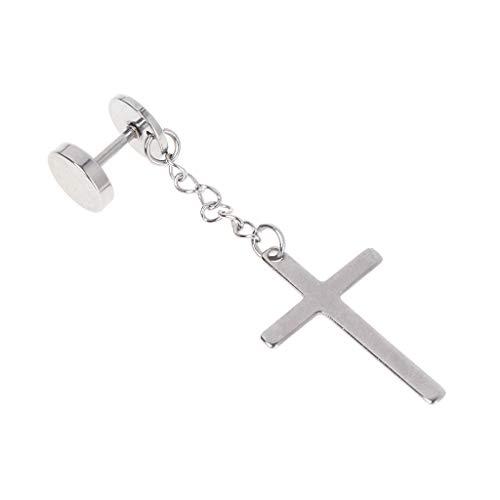 JERKKY 1 stuk kruis oorbellen hanger druppel lang sieraad van titanium goud zilver charms unisex dames heren ketting hanger cadeau party zilver