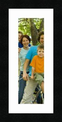Cadres Photos pêle mêle multivues 1 Photo(s) 10x30 Passe Partout, Cadre Photo Mural 15x35 cm Noir, 3 cm de Largeur