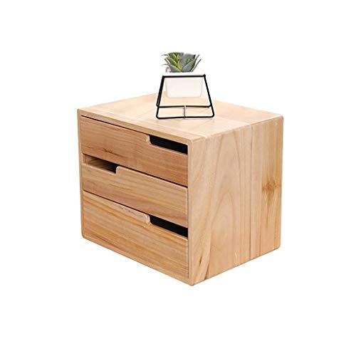 Preisvergleich Produktbild Aktenschränke,  Holzstapel-Aufbewahrungsbox,  Organizer for Bürobedarf Mit Mehreren Schubladen,  for Schreibtischzubehör Oder Post (Size : 3-Layers)