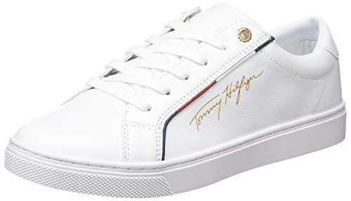 Tommy Hilfiger Womens Venus 38A Sneaker, White, 38 EU