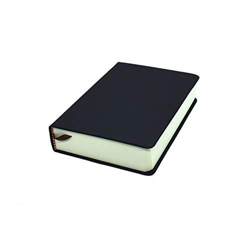 WANGYIYI Cuadernos Gruesos Páginas en Blanco Bloc de Notas Recargable 330 Hojas A4 A5 A6 Cuaderno de Tapa Blanda Bloc de Notas Papelería Escolar (Color : Black, Size : A6)