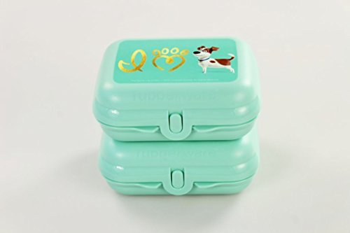 TUPPERWARE To Go Twin mint (2) Pets Brotdose Box Behälter Größe 2