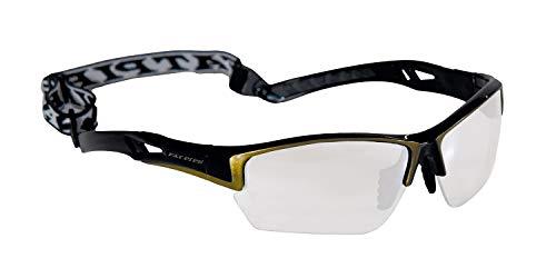 Floorball & Unihockey Schutzbrille JUNIOR | FAT PIPE | Farbe: Schwarz/Gold | mit IFF Zertifikat für geprüfte Qualität