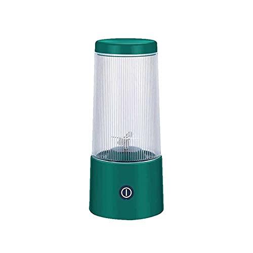 LUOYANFA Mini exprimidor eléctrico portátil, suplemento de batido recargable por USB, exprimidor inalámbrico de frutas, exprimidor adecuado para trabajo al aire libre, hogar, (color: verde)