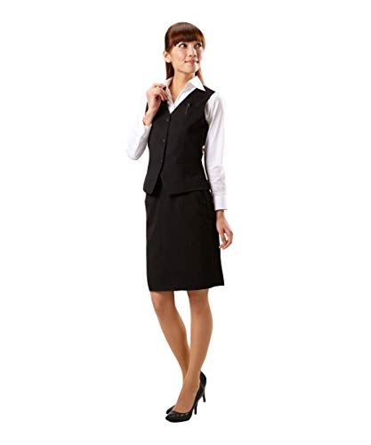 [nissen(ニッセン)] お客様の声から改善ベストスーツ(温湿度調整裏地付)(丈52cm) レディース 黒 13号
