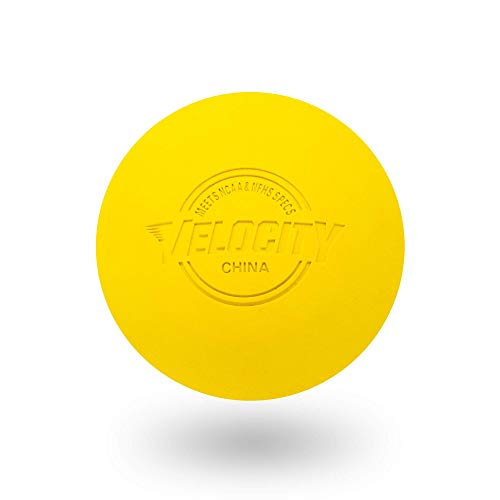 12 Pack of Velocity Lacrosse Balls. - Color Yellow.