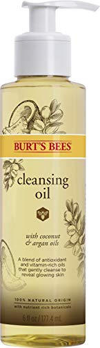 Burt's Bees Cleansing Oil with Coconut & Argan Cleanser, 6 Ounce