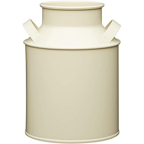 Kitchen Craft Living Nostalgia Dekorative Metall Milchkanne im Vintage Stil, 1.7 Liter, Stahl, Beige, 12.7 x 13 x 18 cm