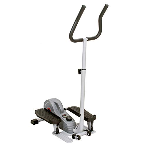 Product Image 16: Sunny Health & Fitness Magnetic Standing Elliptical with Handlebars – SF-E3988, Grey