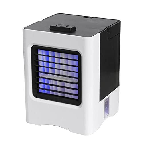 FCMU Mini Ventilador de Aire Acondicionado portátil, Ventilador de Escritorio de Carga USB, atomización y humidificación, Viento Fuerte y sin Ruido (Adecuado para Ninguna White