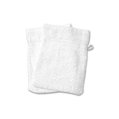 Soleil d'ocre 421100 Douceur Lot de 2 Gants de Toilette Coton Blanc 21 x 16 cm