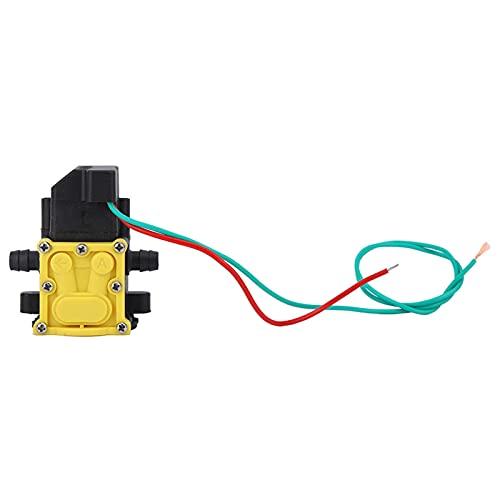 Cabezal de bomba de agua, accesorios de bomba de autocebado de jardín de plástico Bomba de presión de diafragma de rociador eléctrico H (8 * 7 * 5 cm)