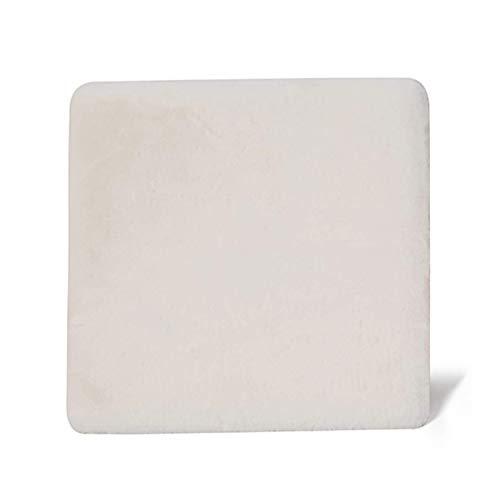 Cojín de asiento de espuma de espuma, almohadillas de asiento Premium cuadradas para exteriores Tatami al aire libre Alimentos de suelo transpirable Silla de comedor respirable Cojines-Beige A 45x45x4