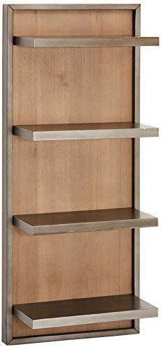 Ibbe Design Estantería Mallorca de Madera de Acacia Maciza con 4 estantes, 45 x 26 x 110 cm