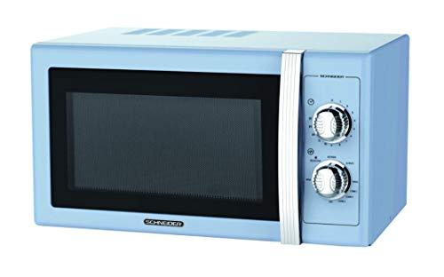 Microondas 20L, 700W mecánico vintage azul