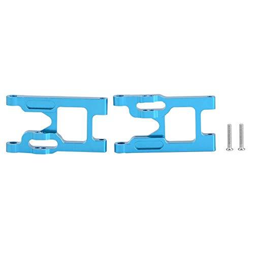 Dilwe RC Auto Vorderachse, 2 Stück Aluminiumlegierung Vorderachse mit Schrauben für Wltoys 12428 / FY03 RC Auto Upgrade Zubehör (Blau)