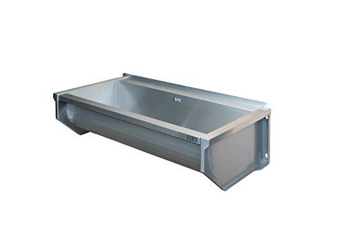 KUNe 90 cm Ausgussbecken | Waschtrog aus Edelstahl | Waschbecken