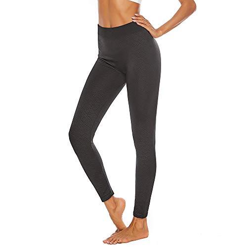 MOTOCO Frauen große Hose mit hoher Taille Retro-Druck Enge Yogahosen Jogginghose Leggings Größe 38-48(M(40),Schwarz-7)