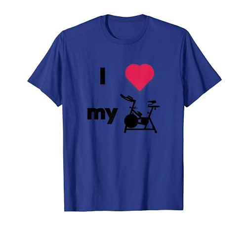 clase de spinning, bicicleta de giro, bicicleta estacionaria, ciclismo interior Camiseta