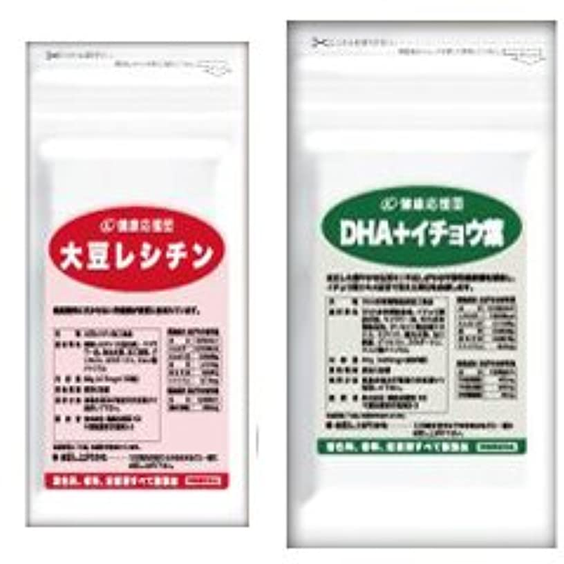 控えめな逆説スケルトン流れサラサラセット 大豆レシチン+(DHA+イチョウ葉) (DHA?EPA?イチョウ葉)