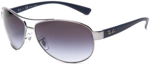 Ray-Ban RB3386 Aviator Sunglasses, Gunmetal Frame/Gray Gradient Lens, 63mm