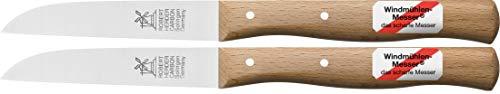 2 x Gemüsemesser, kleines Küchenmesser mit Holzgriff, Schälmesser, 8,5 cm Herder Windmühlenmesser Klassiker mittel