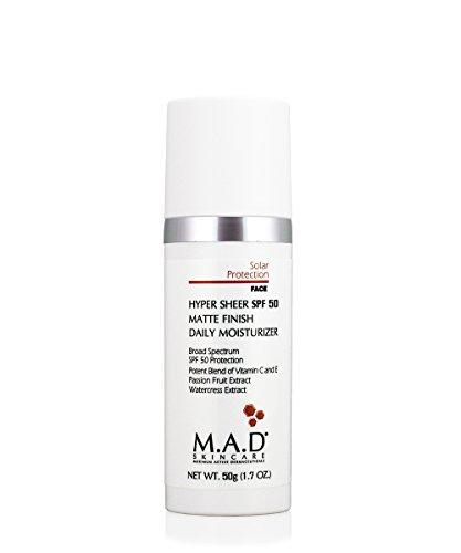 M.A.D Skincare Hyper Sheer SPF 50 Matte Finish Daily Moisturizer 1.7 oz.