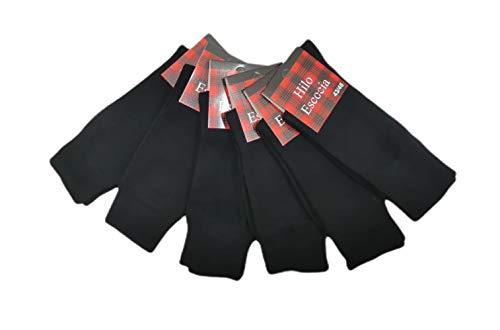 CPL PACK 6 Pares - Calcetines de Hilo de Escocia para caballero (43-46)