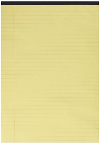 Q-Connect Executive Pad A4 Yellow Ruled Feint and Margin KF01387 Pack of 10