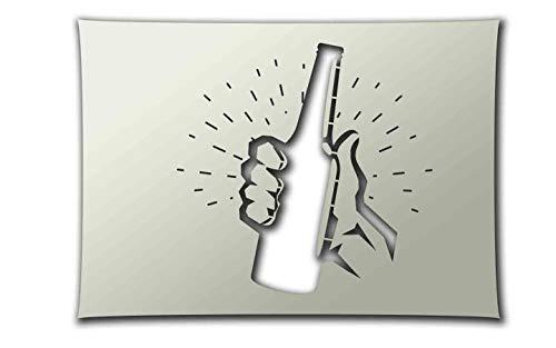 PixieBitz Schablone für Bierflaschen, A4, zum Sprühen, Airbrush, Schwammen, Aerosol, Pastellfarben und Schneefräsen