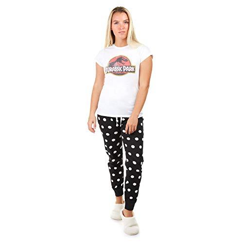 Jurassic Park Distressed Logo Juego de Pijama, Multicoloured, Small para Mujer