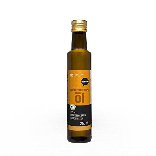 Wohltuer BIO Aprikosenkernöl kaltgepresst 250ml | Intensive Hautpflege | 100% Naturkosmetik | Vitamin E für die Haut