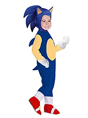 Cartoon Cosplay Costumes for Boys Girls Pretend Play Onesie Suit Sonic Jumpsuit,S Blue from Cimno