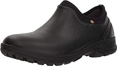 Bogs Men's Sauvie Slip On Waterproof Rain Boot, Black, 11 M US