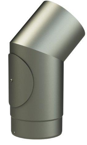 conductos y fumistería Leña: Curva 45 ° con inspección